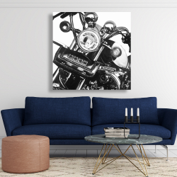Canvas 48 x 48 - Realistic motorcycle