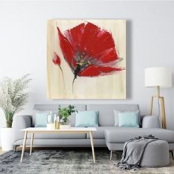 Canvas 48 x 48 - Two red flowers