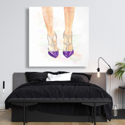 Canvas 48 x 48 - Purple studded high heels