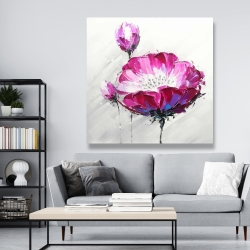 Canvas 48 x 48 - Fuchsia wild flower