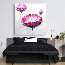 Canvas 48 x 48 - Pink wild flowers