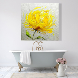 Canvas 48 x 48 - Yellow fluffy flower