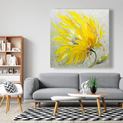 Canvas 48 x 48 - Yellow flower