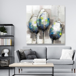 Canvas 48 x 48 - Three abstract tulips