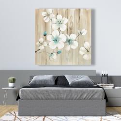 Canvas 48 x 48 - Cherry blossom in white