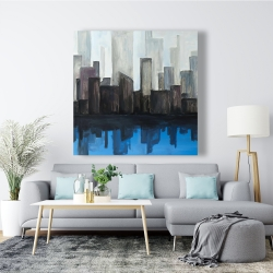 Canvas 48 x 48 - View of a blue city