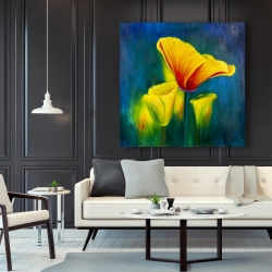 Canvas 48 x 48 - Beautiful colorful flowers