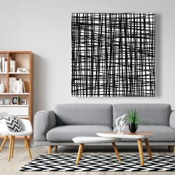 Canvas 48 x 48 - Abstract small stripes