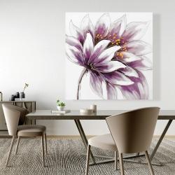 Canvas 48 x 48 - Purple flower
