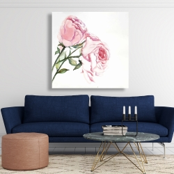 Canvas 48 x 48 - Watercolor pink roses