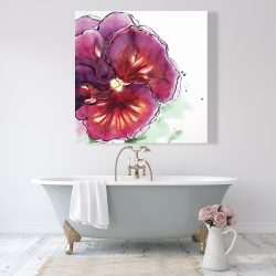 Canvas 48 x 48 - Blossoming orchid with wavy petals