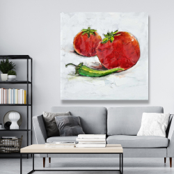 Canvas 48 x 48 - Tomatoes with jalapeño