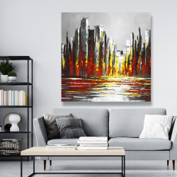 Canvas 48 x 48 - Abstract red skyline