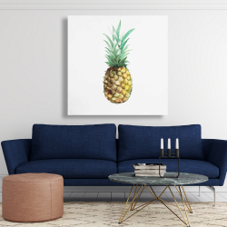 Canvas 48 x 48 - Watercolor pineapple