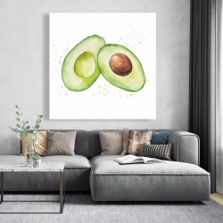 Canvas 48 x 48 - Watercolor open avocado