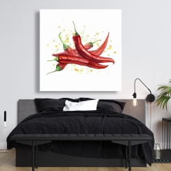 Canvas 48 x 48 - Red hot peppers