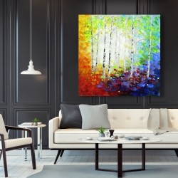Canvas 48 x 48 - Colorful forest