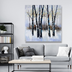 Canvas 48 x 48 - Frosted trees