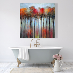 Canvas 48 x 48 - Abstract and colorful forest