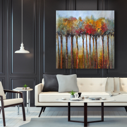 Canvas 48 x 48 - Colorful leaves trees