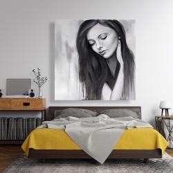 Canvas 48 x 48 - Realistic woman portrait