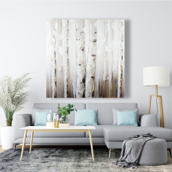 Canvas 48 x 48 - Abstract white birches