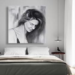 Canvas 48 x 48 - Smiling woman portrait