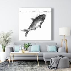 Canvas 48 x 48 - Happy swimming fish