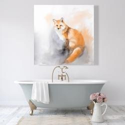 Canvas 48 x 48 - Watercolor fox