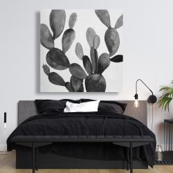 Canvas 48 x 48 - Grayscale cactus