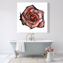 Canvas 48 x 48 - Watercolor rose