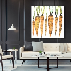Canvas 48 x 48 - Watercolor carrots