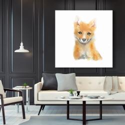 Canvas 48 x 48 - Watercolor baby fox