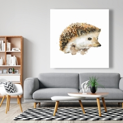 Canvas 48 x 48 - Watercolor hedgehog