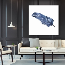 Canvas 48 x 48 - Blue feather