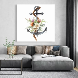 Canvas 48 x 48 - Anchor with flowers