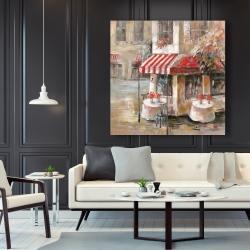 Canvas 48 x 48 - Sunny restaurant terrace