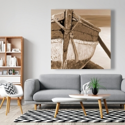 Canvas 48 x 48 - Tied up rowing boat