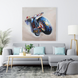 Canvas 48 x 48 - Motorcycle in jump