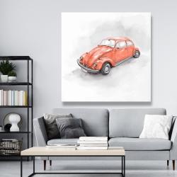 Canvas 48 x 48 - Vintage red beetle