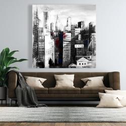 Canvas 48 x 48 - White city with paint splash