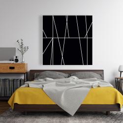 Canvas 48 x 48 - White stripes on black background