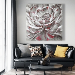 Canvas 48 x 48 - Gray and pink flower