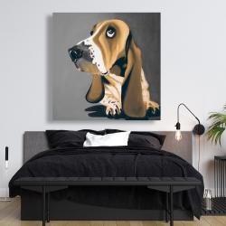 Canvas 48 x 48 - Gold basset hound dog