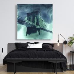 Canvas 48 x 48 - Abstract view of brooklyn bridge