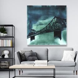 Canvas 48 x 48 - Montreal jacques-cartier bridge