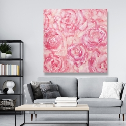 Canvas 48 x 48 - Roses in watercolor