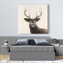 Canvas 48 x 48 - Abstract deer