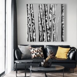 Canvas 48 x 48 - Birches intersecting