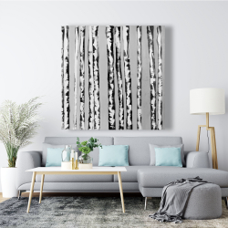 Canvas 48 x 48 - Birches black and white